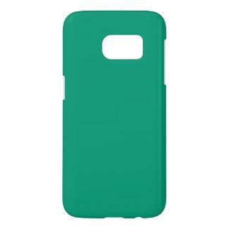 Caja sólida de la galaxia S7 del verde esmeralda Fundas Samsung Galaxy S7