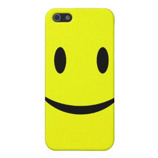 Caja sonriente amarilla del iPhone 4 de la cara iPhone 5 Fundas
