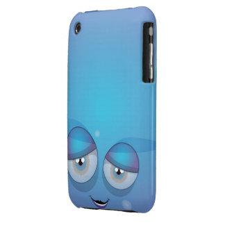 Caja sonriente azul del iPhone iPhone 3 Carcasas