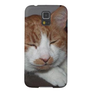 caja sonriente de la galaxia S5 de Samsung del gat Carcasas Para Galaxy S5