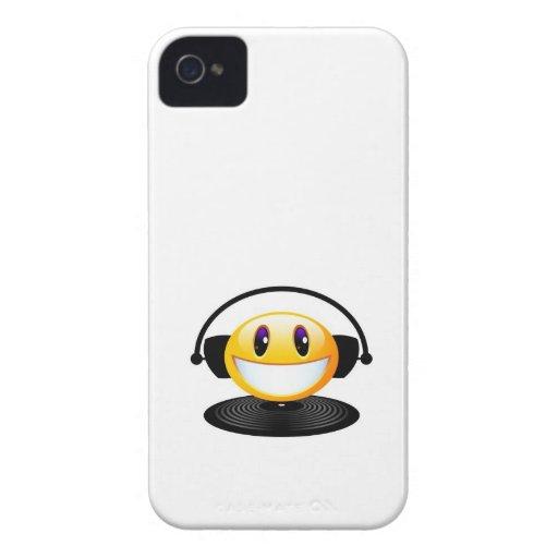 Caja sonriente del teléfono del vinilo iPhone 4 protectores