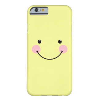 Caja sonriente linda amarilla en colores pastel funda de iPhone 6 barely there