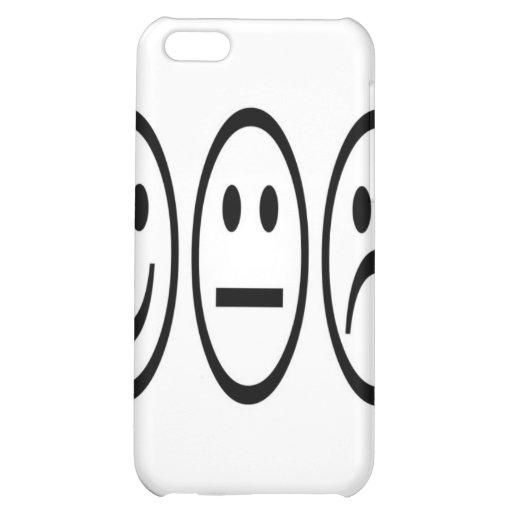 Caja sonriente negra del iPhone 4 de las caras