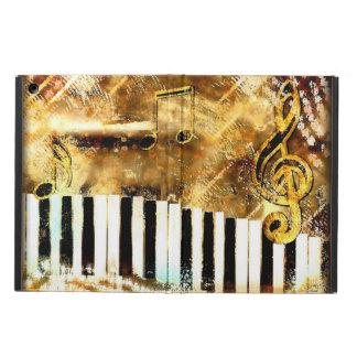 Caja sucia del aire del iPad del oro de la música