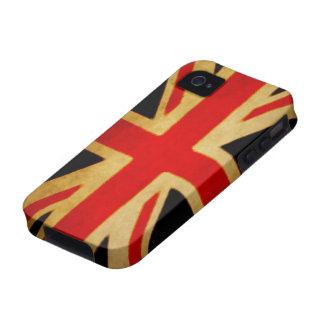 Caja sucia del teléfono de la bandera de Union Jac iPhone 4/4S Carcasas