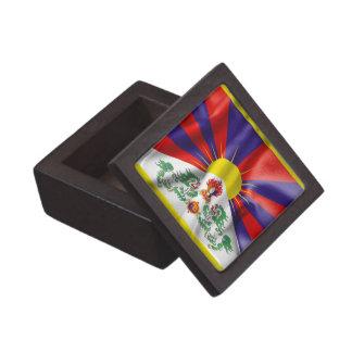 Caja superior del recuerdo de la bandera de Tíbet Cajas De Recuerdo De Calidad