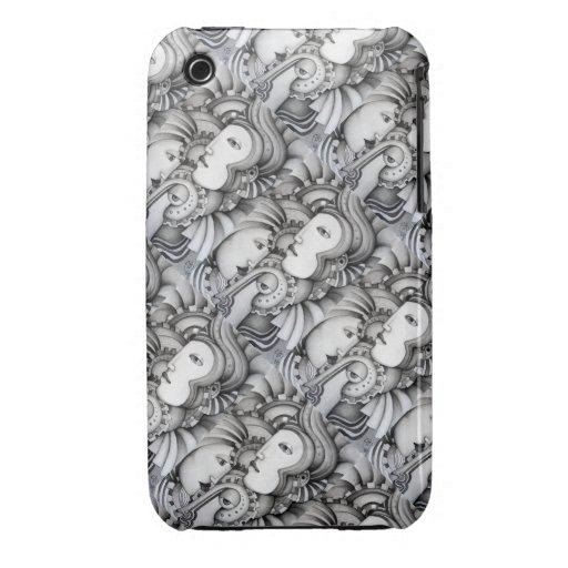 Caja tejada arte del iPhone 3/3GS de los guerreros Case-Mate iPhone 3 Carcasa