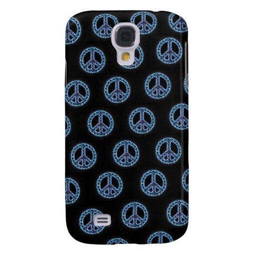 Caja tejada azul de IPhone 3 de la paz