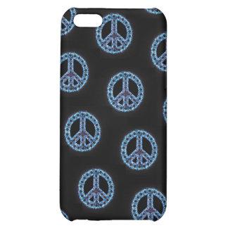 Caja tejada azul de IPhone 4 de la paz