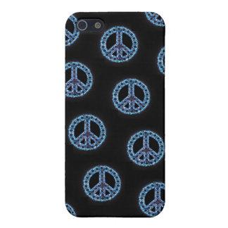 Caja tejada azul de IPhone 4 de la paz iPhone 5 Funda