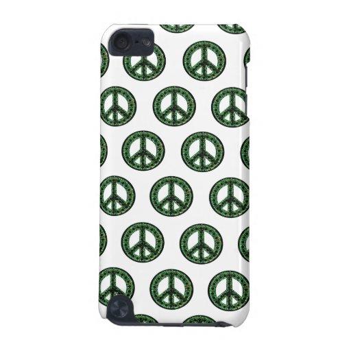 Caja tejada paz verde de la mota de IPod