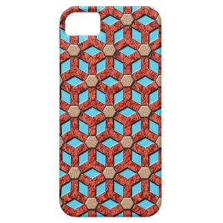Caja tejada roca roja de Droid del modelo del male iPhone 5 Case-Mate Coberturas