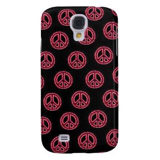 Caja tejada roja de IPhone 3 de la paz