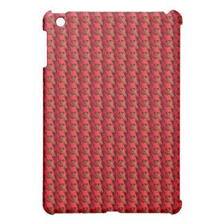 Caja tejada roja de la mota del iPad del modelo