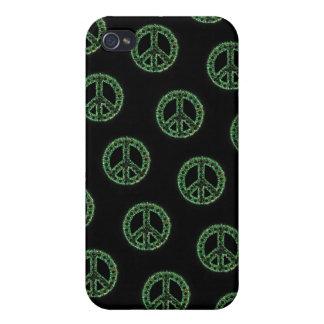 Caja tejada verde de IPhone 4 de la paz iPhone 4/4S Carcasas