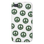 Caja tejada verde de IPhone 4 de la paz iPhone 4/4S Carcasa