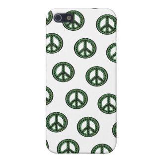 Caja tejada verde de IPhone 4 de la paz iPhone 5 Carcasas