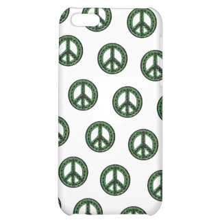 Caja tejada verde de IPhone 4 de la paz