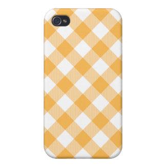 Caja tejida amarilla de Iphone 4 de la guinga de iPhone 4/4S Fundas