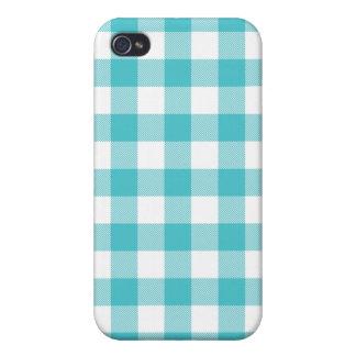 Caja tejida Curaçao azul de Iphone 4 de la guinga iPhone 4/4S Funda