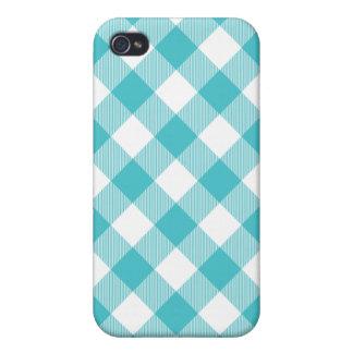 Caja tejida Curaçao azul de Iphone 4 de la guinga iPhone 4 Carcasas