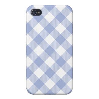 Caja tejida lavanda de Iphone 4 de la guinga iPhone 4 Fundas