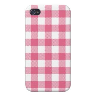 Caja tejida rosada de Iphone 4 de la guinga de la iPhone 4/4S Fundas