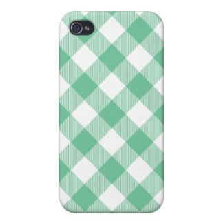 Caja tejida verde de Iphone 4 de la guinga de iPhone 4/4S Fundas