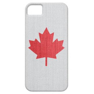 Caja temática de la hoja de arce canadiense funda para iPhone SE/5/5s