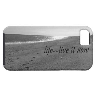 Caja temática de la playa con cita de la vida iPhone 5 Case-Mate coberturas
