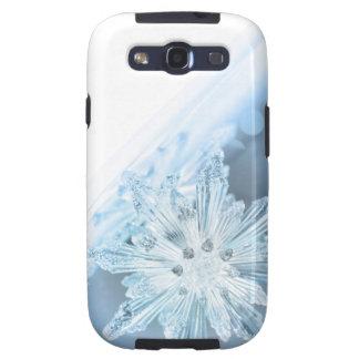 Caja temática del copo de nieve del invierno samsung galaxy SIII funda