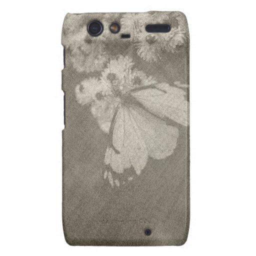 Caja temática del teléfono de la mariposa motorola droid RAZR carcasas