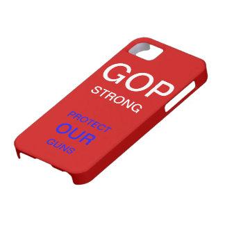 Caja temática fuerte del GOP iPhone 5 Case-Mate Cárcasa