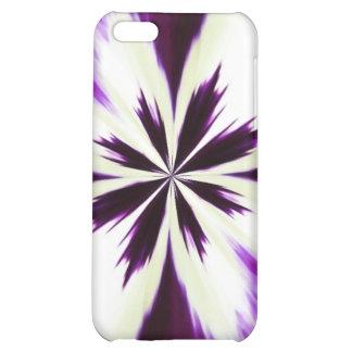 "Caja ""teñido anudada"" púrpura del iPhone"