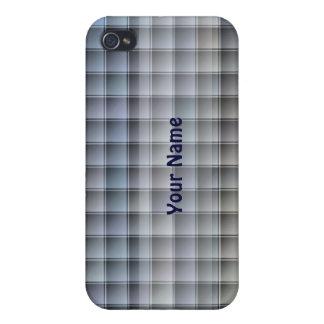 Caja texturizada de los bloques del azul iPhone 4 funda