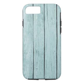 Caja texturizada madera azul clara del iPhone 6 de Funda iPhone 7