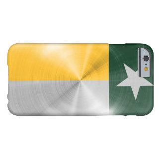 Caja texturizada metal del iPhone 6 de la bandera Funda De iPhone 6 Barely There