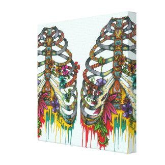 Caja torácica de la flor lona estirada galerías