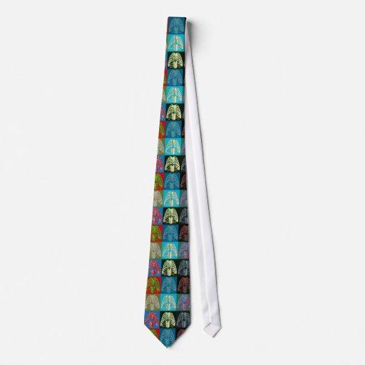 Caja torácica del arte pop corbata personalizada