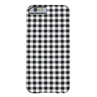 Caja tradicional blanco y negro del modelo de la funda de iPhone 6 slim