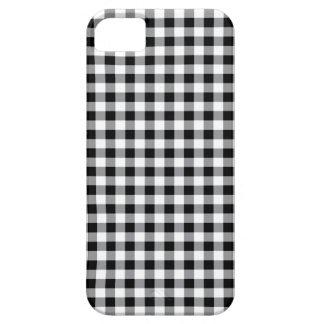 Caja tradicional blanco y negro del modelo de la iPhone 5 funda