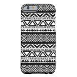 Caja tribal azteca blanca negra del iPhone 6 del Funda Barely There iPhone 6