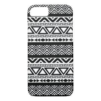 Caja tribal azteca blanca negra del iPhone 7 del Funda iPhone 7