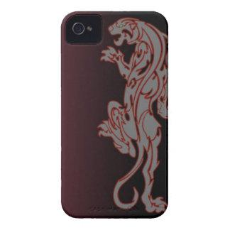 caja tribal del teléfono de la pantera del león iPhone 4 Case-Mate protectores