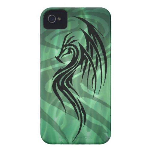 caja tribal del teléfono del dragón Case-Mate iPhone 4 fundas