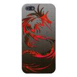 caja tribal del teléfono del dragón iPhone 5 coberturas