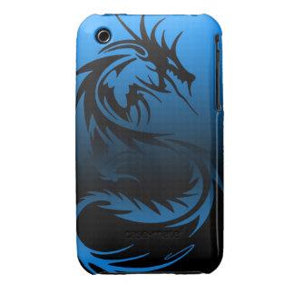 caja tribal del teléfono del dragón funda para iPhone 3