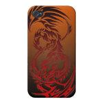 caja tribal del teléfono del dragón iPhone 4 funda