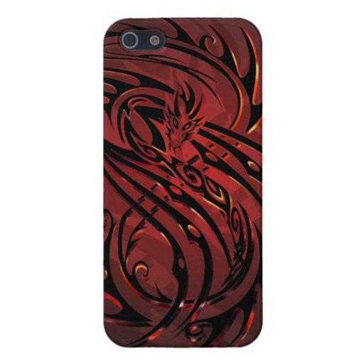 caja tribal del teléfono del dragón iPhone 5 funda