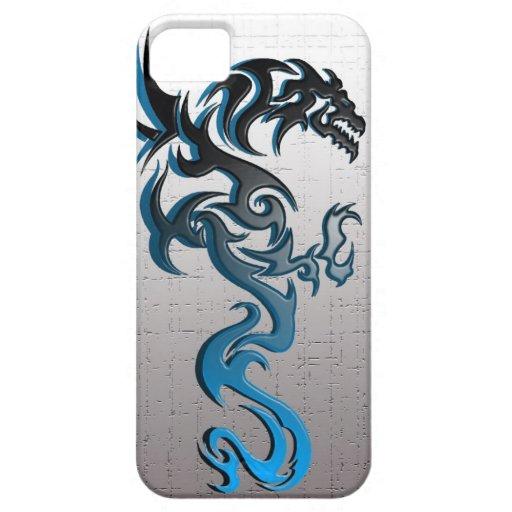 caja tribal del teléfono del dragón iPhone 5 fundas